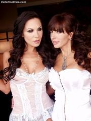 two horny brunette milfs