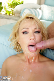 lusty blonde with juicy