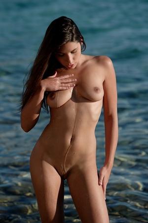 Pretty nude damsel wrapped in black clot - XXX Dessert - Picture 15