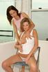 two babes flimsy undies