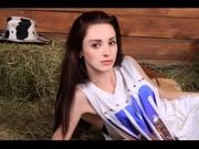 brunette teen melony striptease