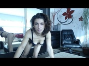 brunette hotmishelle striptease