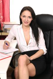 tattooed secretary with nicely