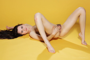 Slim brunette beauty takes off her black - XXX Dessert - Picture 11