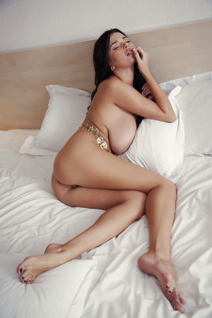 Brunette babe with really huge breasts p - XXX Dessert - Picture 7