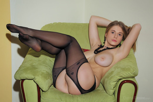 Big-titted fair-haired bitch in black ny - XXX Dessert - Picture 5