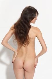 nice brunette black lingerie
