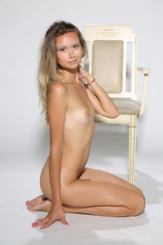 tanned fair-haired chick high