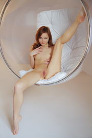 ginger freshie posing naked