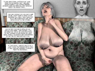 Old toon tranny tugging her cock while pregnant bitch - Picture 2