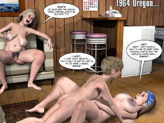 Old toon tranny tugging her cock while pregnant bitch - Picture 3