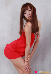 female red dress and