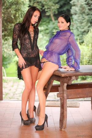 Loose lesbos in lingerie stuffing each o - XXX Dessert - Picture 1