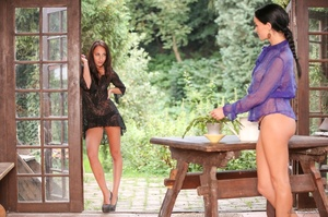 Loose lesbos in lingerie stuffing each o - XXX Dessert - Picture 2