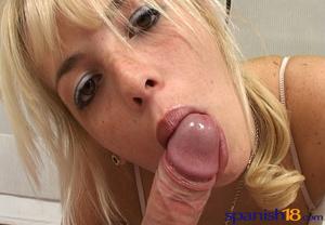 Ponytailed blonde freshie in lingerie lo - XXX Dessert - Picture 3