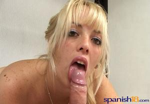 Ponytailed blonde freshie in lingerie lo - XXX Dessert - Picture 8