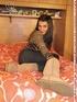 brunette teen girl striped