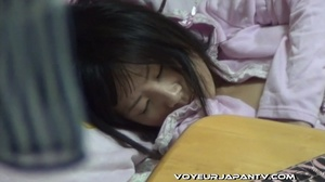 Asian damsel in pink negligee squats, bends and lies down to reach deep in pussy - XXXonXXX - Pic 16