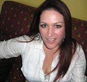 Brunette in jeans and white shirt with big tits sucks cock and gets fucked