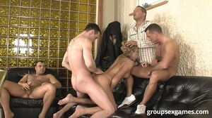 Some horny dudes handling fair-haired st - XXX Dessert - Picture 12