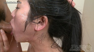 Cum-hungry babe on her knees gets shower - XXX Dessert - Picture 9