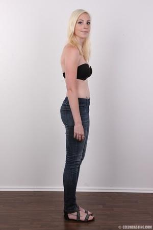 Tall blonde cutie with a tattoo demonstr - XXX Dessert - Picture 5