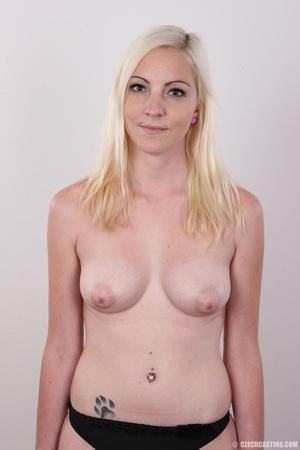 Tall blonde cutie with a tattoo demonstr - XXX Dessert - Picture 11