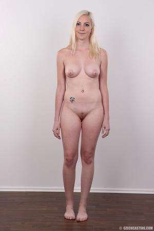 Tall blonde cutie with a tattoo demonstr - XXX Dessert - Picture 14