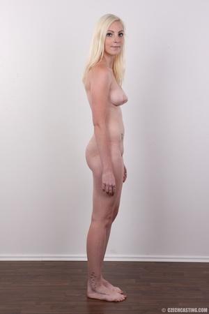 Tall blonde cutie with a tattoo demonstr - XXX Dessert - Picture 15