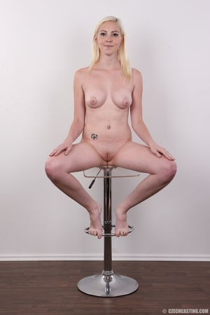 Tall blonde cutie with a tattoo demonstr - XXX Dessert - Picture 19