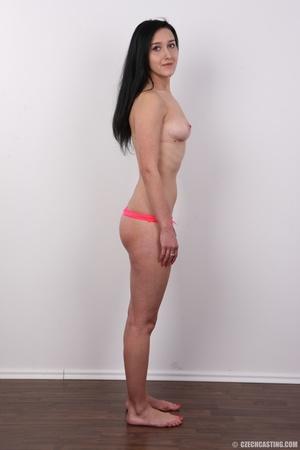 Lovely brunette nude chick having her sh - XXX Dessert - Picture 10