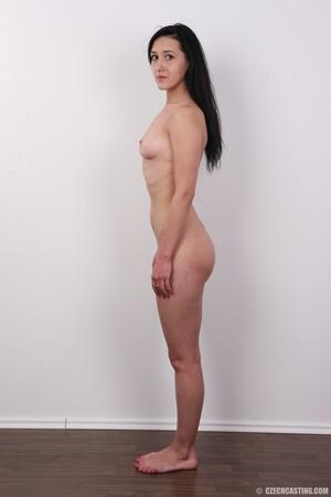 Lovely brunette nude chick having her sh - XXX Dessert - Picture 15