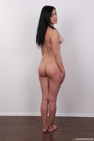 Lovely brunette nude chick having her sh - XXX Dessert - Picture 17