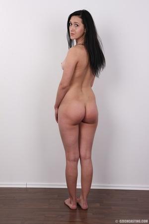 Lovely brunette nude chick having her sh - XXX Dessert - Picture 18