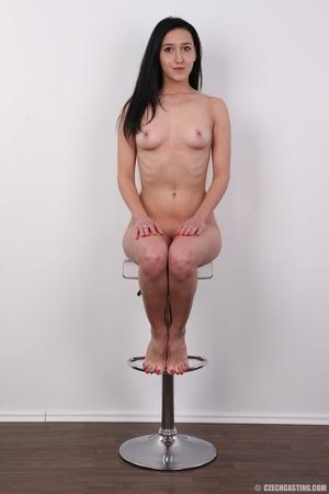 Lovely brunette nude chick having her sh - XXX Dessert - Picture 19