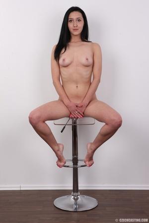 Lovely brunette nude chick having her sh - XXX Dessert - Picture 20