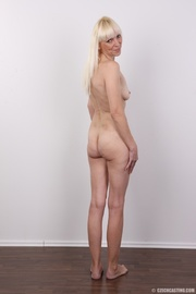 small-titted blonde mature with