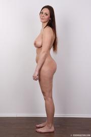 curvy long-haired brunette bombshell