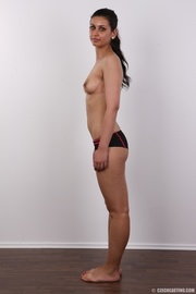 well-built ponytailed brunette babe
