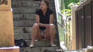 Shy hotties pressed in public cant hold back and pee outdoors wetting themselves - XXXonXXX - Pic 6
