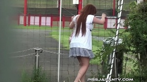 Shy hotties pressed in public cant hold back and pee outdoors wetting themselves - XXXonXXX - Pic 10