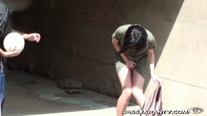 Shy Asian taking a pee gets interrupted before she lets hot pee flow outdoors - XXXonXXX - Pic 6
