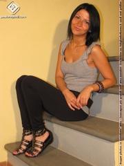 hot girl black pants
