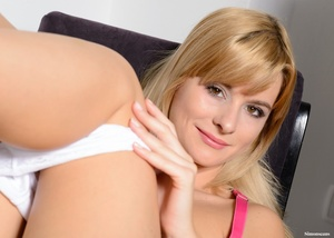 Cute fair-haired coed in a pink top and  - XXX Dessert - Picture 10