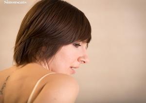 Short-haired brunette girl in a nice blu - XXX Dessert - Picture 9