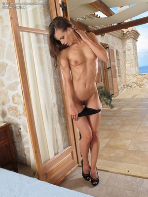 Wild brunette babe takes off her black l - XXX Dessert - Picture 5