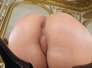 Dirty brunette bitch in a black short dr - XXX Dessert - Picture 9