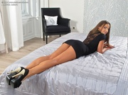 stacked brunette slut black
