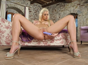 Blonde angel in a very sexy lingerie and - XXX Dessert - Picture 11