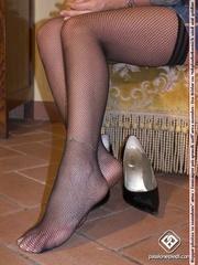 madam black heels and